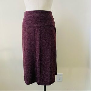 Ann Taylor Loft Heather's Red A-line Skirt Sz S